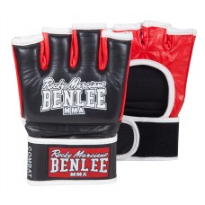 ММА Ръкавици Benlee Leather MMA Gloves Combat Black