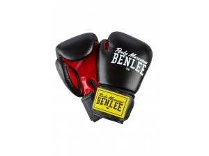 Боксови ръкавици Benlee Fighter leather boxing gloves black red