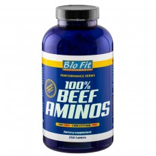 100% телешки аминокиселини - BEEF AMINOS 250 табл., Bio Fit