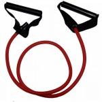 Ластик с дръжки, червен - Gymstick Pro Exercise Tube 140 sm, medium
