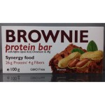 Brownie Protein Bar - протеиново блокче  с карамел и фъстъци, 100 гр, JK Nutrition
