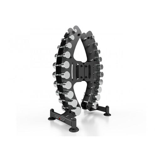 Стойка с хромирани дъмбели от 1 до 10 кг, MP-S206, Marbo Sport