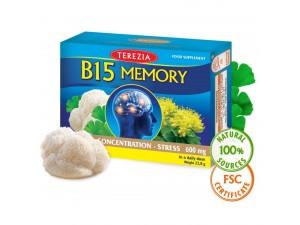 Хранителна Добавка за подобряване на паметта 60 капс B15 Memory формула, Terezia
