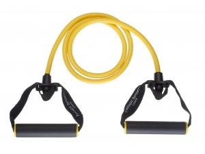 Ластик за тренировка с дръжки 140 см жълт, Trendy sport