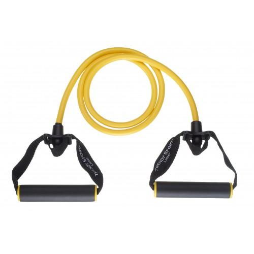 Ластик за тренировка с дръжки 140см жълт, Trendy sport - JK Fitness