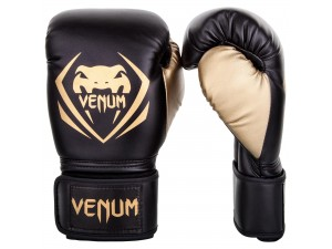 Боксови ръкавици Venum Contender Boxing Gloves black gold