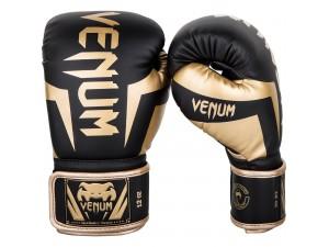 Боксови ръкавици Venum Elite Boxing Gloves black gold