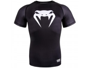Спортна тениска Venum Contender 3.0 Compression BlackWhite