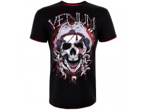 Спортна тениска Venum Pirate 3.0 T shirt black red