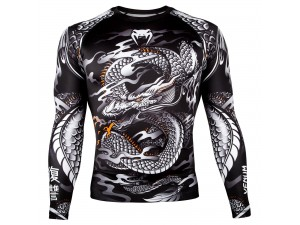 Рашгард Venum Dragon's Flight Rashguard black white