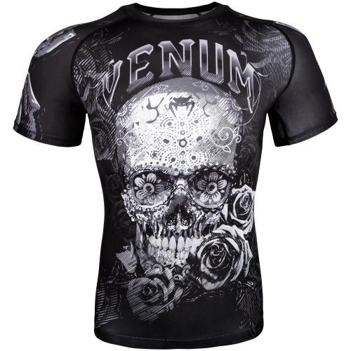 Рашгард Venum Santa Muerte 3.0 T- Rashguard - Black/White