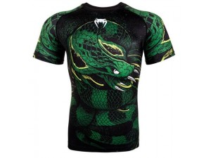 Рашгард Venum Green Viper Rashguard black green