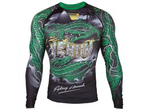 Рашгард Venum Crocodile Rashguard black green