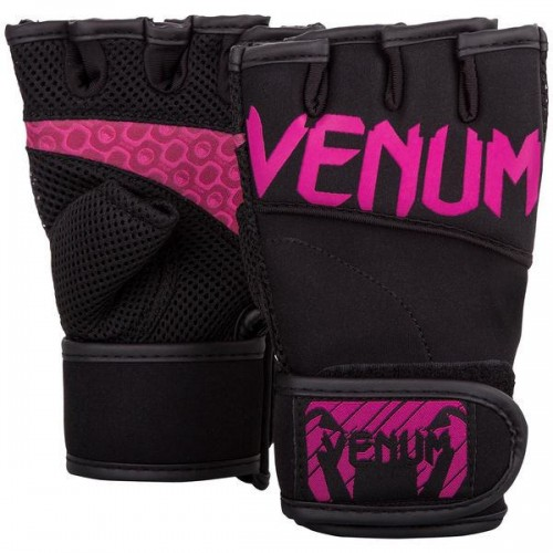 Фитнес ръкавици Venum Aero Body fitness gloves black/neo pink