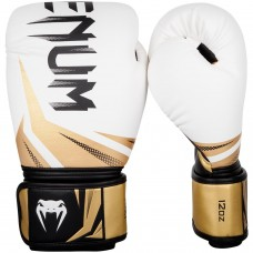 Боксови ръкавици Venum Challenger 3.0 Boxing Gloves white black gold
