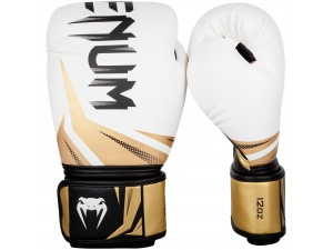 Боксови ръкавици Venum Challenger 3.0 Boxing Gloves white black gold