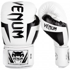 Боксови ръкавици Venum Elite Boxing Gloves white black