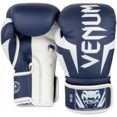 Боксови ръкавици Venum Elite Boxing Gloves white navy blue