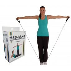 Ластик с дръжка за физически упражнения, 120 см, лек, MSD