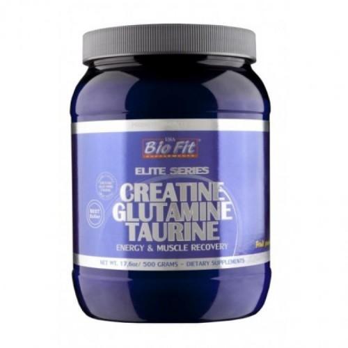 Креатин-глутамин-таурин - Creatine Glutamine Taurine, 500 гр, Bio Fit