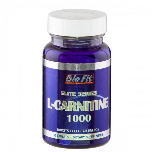 Л-Карнитин -L-карнитин 1000 мг, 30 табл, Bio Fit
