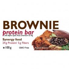 Brownie Protein Bar - протеиново блокче  с черен шоколад, 100 гр, JK Nutrition
