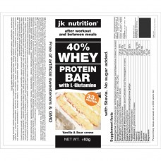 Протеинов десерт 40%, 82 гр, ванилия, JK Nutrition