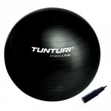 Шведска топка, 65 см, антипрахова, черна, Tunturi