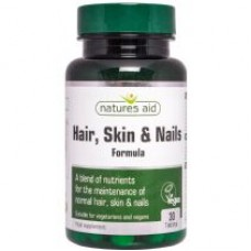 Natures Aid Hair, Skin and Nails Formula 30 табл.