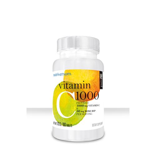 Витамин C + Rose Hips Nutriversum (100 табл.)