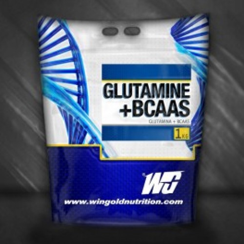 Глутамин с BCAA - Glutamine + BCAA, 500 гр, Wingold